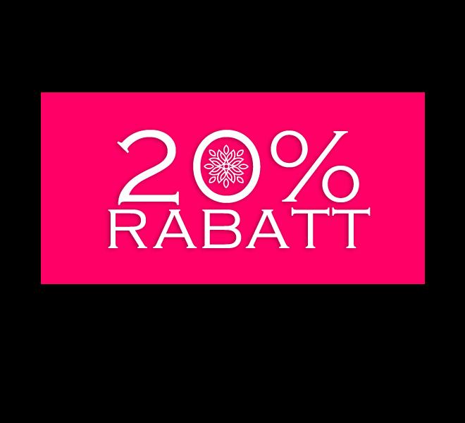 20% Rabatt buchen